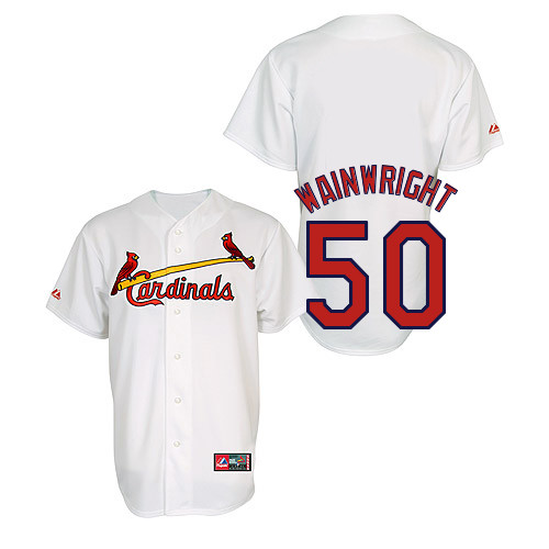 Adam Wainwright #50 Youth Baseball Jersey-St Louis Cardinals Authentic Home Jersey by Majestic Athletic MLB Jersey